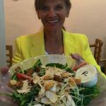 delicious salad as shown by our newest book club addition