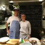 Miriam runs the kitchen at M&O (brilliant chef) and Jeffery is one of her team!