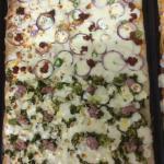 Pizza broccoli & sicilian sauseges