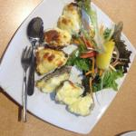 Oysters Mornay - happy not to have again
