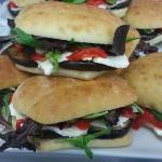 Grilled Eggplant, house made fresh mozzarella, roasted peppers & basil