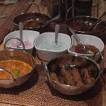 Complete take away paradise; CTM, butter chic, lamb rogan josh, lamb kebab, basmati rice