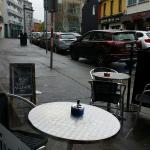 Renzo's Cafe on a blustery sunday