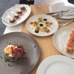 Bombones de foie, bombones de salmon, y cheesecake espectaculares!