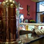 Cafe's Interior View of Huge Copper Coffee~Tea~Hot Water Urn