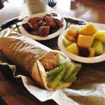 Grilled Chicken Gyro with Roasted Red Potatoes & Fruit