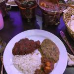 Goa restaurants delicious lamb Jal Frezi with rice and dal