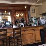 Small part of the huge oak bar, original to this historic building - great character!
