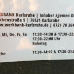 Speisekarte & Öffnungszeit (April 2016)