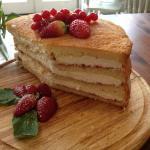 Fresh jam&cream sponge