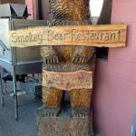 Smokey Bear Restaurant chain saw carving.