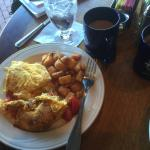 Daily Omelette (Andouille Sausage) and Home Fries