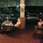 Panorama of the covered outdoor seating area
