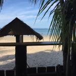 Blick vom Strandrestaurant
