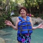 my mom at the blue hole