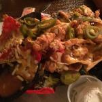Awesome crawfish nachos