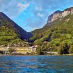 Hotel Beatus Sicht vom Thunersee aus