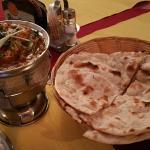 My Chicken Jalfrezi and Chapati at Annapurna
