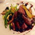 duck breast with veggies