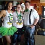 Some of the Eddie crew on Sait Patricks Day