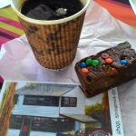 Rocky Road fudge and coffee