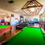 Pool tables & dinning area