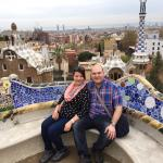 Scenic view at Guell Park, Barcelona