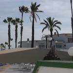 Fin utsikt från altanen mot Faro & Atlanten