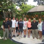 Our lovely Villa Kakatua staff with my family