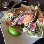 369 Nitro Stout, Prime Rib, Ahi Tuna Tacos. Great views of Flathead Lake, excellent service, and