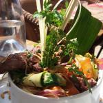 plat du jour boeuf et nouilles asiatique