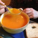 Butternut squash soup and GF bread