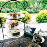 A decadenr afternoon tea in picturesque setting