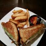 The albacore tuna salad sandwich with the steak fries.