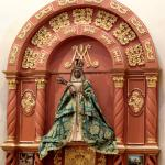 An image of the Virgin of Candelaria in San Fernando Cathedral, San Antonio, Texas