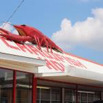 Pic of the roof on this crawfish restaurant