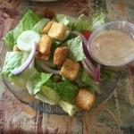 Salad with ceaser dressing