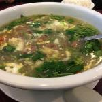 Sai Woo, egg drop soup, west lake beef soup