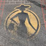 The markings in the streets of Fashion District