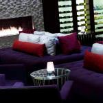 Agave Sunset Bar Fireplace