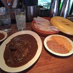 The chicken mole doesn't photograph too well. But it sure is delicious!