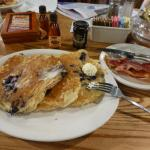 Blueberry Pancakes with extra bacon