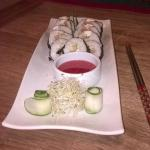 Smoked trout and cream cheese sushi