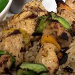Chicken Kabob & Wild Rice