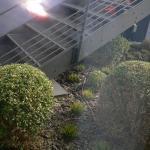 Depuis la fenêtre une belle vue sur un escalier métallique bruyant !
