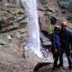 After the 130 foot waterfall rappel