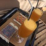 They welcomed us with fresh juice!