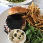Yellowfin Tuna Burger, Manna Restaurant, Water Mill, NY