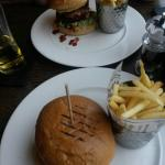 Rodeo burger and chips