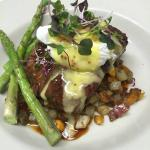 short ribs, veal demi, three potato & vidalia onion mash, poached egg whole grain mustard hollan